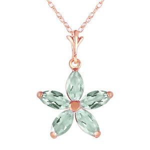 "14K Solid Rose gold fine Necklace 16-24"" w genuine Green Amethysts"