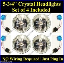 "Chevy 5 3/4"" Headlights Halogen Sylvania Head Lamps Clear 4 Light System 60/55"