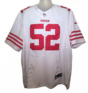 Patrick Willis #52 White On-Field Jersey Size 2XL San Francisco 49ers - EUC Read