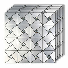 """5pack 12""""x12"""" Patterned Peel and Stick Mosaic Tile Backsplash for Kitchen Wall"""