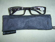 """Sight Station""""Saville""""By Foster Grant Gents Fashion Reading Glasses&Case"""