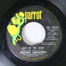 Rock 45 Engelbert Humperdinck - Lady Of The Night / Love Is All On Parrot