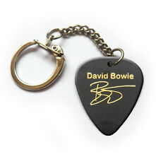 Famous Gold signature printed guitar pick plectrum keychain key ring David / bow