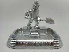 Vintage Art Deco IRON FIREMAN Machine Age Coal Furnace Robot Advertising ASHTRAY
