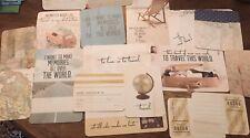 Travel Themed Scrap Book Paper/Postcards