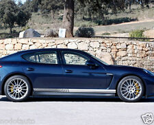 Car Racing Lower Door Panel Stripes Decal for PANAMERA Vinyl Side Stickers #1145