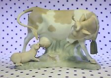 Lladro COW with SUCKLING PIG Figurine Baby Piglet Matte Finish RETIRED #4640