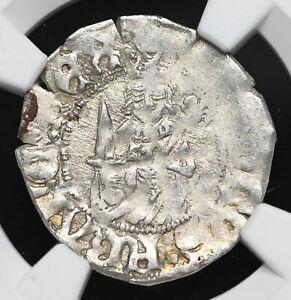 FRANCE. Charles VIII, 1483-1498. Silver Hardi d'argent, NGC AU58