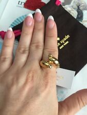 kate spade ring size- 7 New York Gold Plated Gold Bird 100% Authentic NEW$78