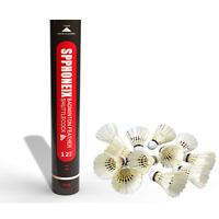 12 Pcs Badminton Shuttlecocks Durable Gooes Feather Badminton Ball Spphoneix