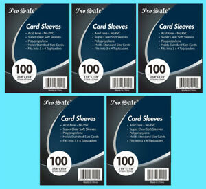500 PRO SAFE Trading Card Soft PENNY SLEEVES Poly Sports PVC free Archival Safe