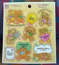 Vintage 1994 Standard Teddy Bears Friendship 12 Sheets 95 Stickers