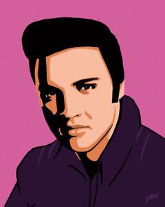 Elvis Presley - Fifties portrait - Original (signed) art print - Jarod Art