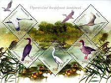 Danube Delta Biosphere Reserve Block of stamps 2004 5 Birds stamps