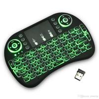 i8+Backlit Mini Wireless Touch Keyboard, Backlit, Touchpad Mouse Combo