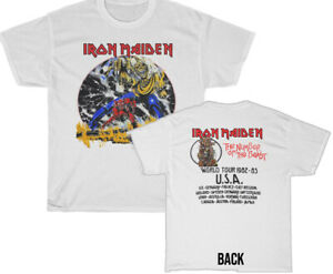Iron Maiden 1982 Number of the Beast World Tour T-Shirt