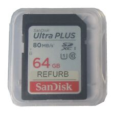 SanDisk 64GB SDXC Ultra Plus Class10 80MB/S UHS-I SD Memory Card f/ Nikon Canon