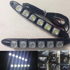 2pcs 6 LED Flexible Strip Car Daytime Running Light DRL Driving Fog Day Lamp 12V