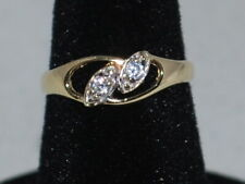 10k Gold ring with CZs and a beautiful design