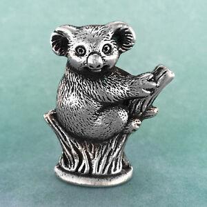 Koala Australian Souvenir Micro Figurine Australiana Gift, Australian Made Pewte
