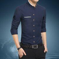 Stylish Fashion Dress Shirts Luxury Men's Long Sleeve Slim Fit Casual Tops