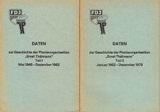 Daten zur Geschichte der Pionierorganisation Ernst Thälmann 2 Hefte DDR 1977