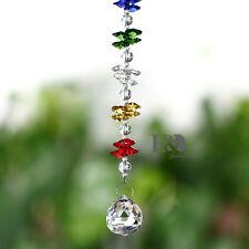 Clear Hanging Suncatcher Cut Crystal Prism Ball Pendulum Feng Shui Pendants 30mm