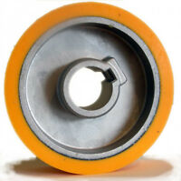 SCM Moulders Rubber Feed Roller Dia=140 Wide=50 Bore=35 for power feed