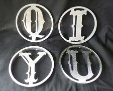 Lot #2 ~ Lot of 4 ~ vintage Screen Door Letters ~ U I Y & Q ~ Aluminum