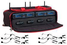 UDH-PLAY-4-MIB 4 CH. UHF DSP HYBRID Headset Lapel WIRELESS MICROPHONE MIC w BAG