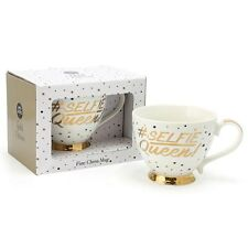 Gold Editions Dots  Fine China Large Selfie Queen Cup Mug  LP33741 Boxed