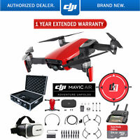 DJI Mavic Air Flame Red Drone Deluxe Fly Case & Warranty Extension Bundle