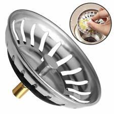 2x Kitchen Sink Strainer Replacement Waste Stainless Steel Basin Drainer Premium