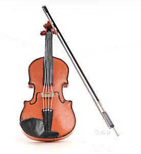 "Violin Fiddle Metal Scale Model 11.75"" Music Instrument Home Decor Centerpiece"