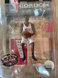 SEALED MIP 2008 CHICAGO BULLS BEN GORDON NBA FIGURE MCFARLANE TOYS White Jersey