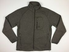 Avalanche Mens Sweater Sz L Brown Full Zip Knit Jacket Fleece Interior Mid-Layer