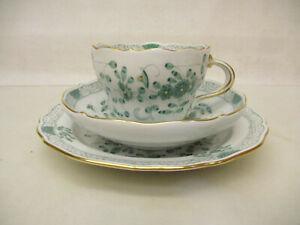 x-18022Meissen indisch grün Kaffeegedeck 1.Wahl sehr guter Zustand