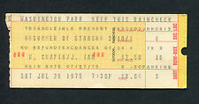 1975 Harry Chapin Janis Ian concert ticket stub Homewood Il Cat's In The Cradle