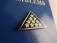 """BRAND NEW Lapel Pin Service Member Memorial Folded Flag White Stars Enamel 1"""""""