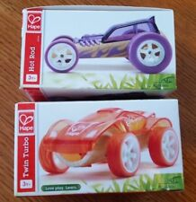 Hape Mini Hot Rod and Twin Turbo vehicles ages 3+ Bamboo