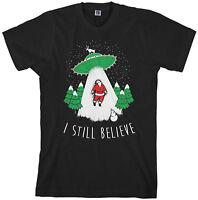 I Still Believe Men's T-Shirt Funny Christmas UFO Gift