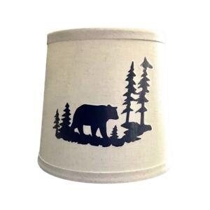 Small Lampshade Rustic Wildlife Black Bear Wilderness Scene, Universal Fit 8x6x7