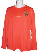 Nike Barcelona entrenamiento Fútbol camiseta de manga larga capa camisa Crimson
