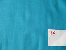 """100% Cotton Patchwork & Quilting Fabric Solid Plain Turquoise 36"""" wide Bargain"""