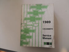 Chevrolet Celebrity1989 Shop Workshop Service manual Werkstatthandbuch