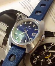 Vintage Eterna Kontiki 20 Diver Big Case 38mm Blue Dial.Org. Barcelet and Tropic