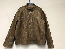 Men's Calvin KleinFaux Leather Jacket Brown Size XL