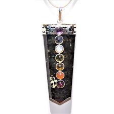 "Charged 7 Chakra Lapis Lazuli Crystal Pendant™ 20"" Chain WOW Version2"