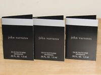 3 John Varvatos Classic Toilette 0.15 Oz Total Mens Spray Fragrance Sample