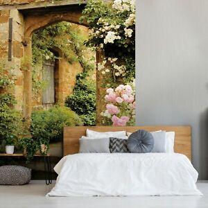Vlies Fototapete Gasse 3D Garten Toskana Blumen Landschaft Italienische XXL 13